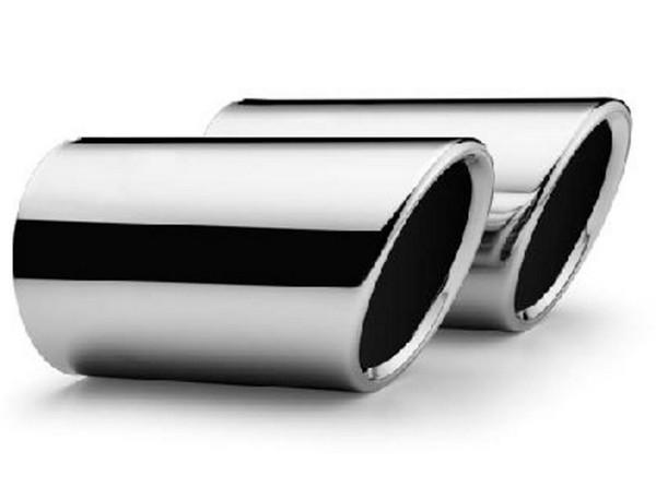 Embellecedor de caño de escape gris plata